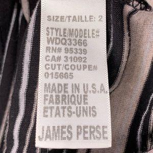 James Perse Tops - James Perse BLACK Vintage Stripe Deep V Tank